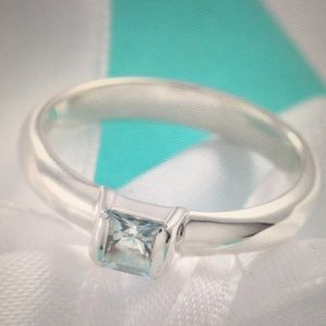 Aquamarine Tiffany & Co Stacking Ring